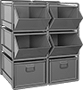 Extra-Large Stackable Bin-Box Racks