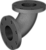 Iron and Steel Pipe Fittings with Flanged Ends