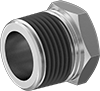 Low-Pressure Galvanized Steel Threaded Pipe Fittings with Sealant
