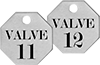 Made-to-Order Sequentially Numbered Metal Tags with Message