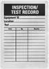 Inspection Record Labels