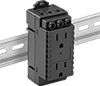 DIN-Rail Mount Straight-Blade Receptacles