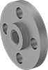 Medium-Pressure Galvanized Steel Threaded Pipe Flanges
