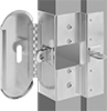 Padlockable Door Lock Plates