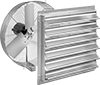 Light Duty Direct-Drive Wall-Mount Exhaust Fans with Louvers