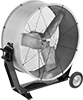 Economy Direct-Drive Mobile Floor Fans with Tilt Stand