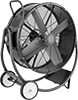 Belt-Drive Mobile Floor Fans with Tilt Stand