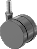 Light Duty Furniture Threaded-Stem Casters with Polyurethane Wheels