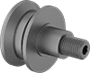 Threaded V-Groove Track Rollers with Adjustable Shoulder