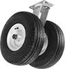 Extra-High-Capacity Plate Casters with Rubber Wheels