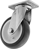 High-Capacity Easy-Turn Casters with Polyurethane Wheels