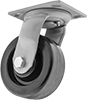 High-Capacity Trash-Container Casters with Phenolic Wheels