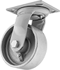 High-Capacity Trash-Container Casters with Metal Wheels