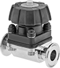 Precision Flow-Adjustment Valves with Sanitary Quick-Clamp Fittings for Food and Beverage