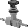 Precision Flow-Adjustment Valves with Barbed Fittings for Food and Beverage