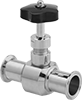 Precision Flow-Adjustment Valves with Sanitary Quick-Clamp Fittings for Clean Steam
