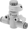 Inline Air Flow Control Valves with Flow Indicator