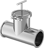 Stainless Steel Quick-Clamp T-Strainers