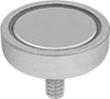 Encased Neodymium Magnets with Threaded Stud