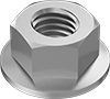 Metric High-Strength Steel Distorted-Thread Flange Locknuts—Class 10
