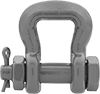 Safety-Pin Web Sling Shackles—For Lifting