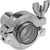 High-Vacuum Sights for Quick-Clamp Fittings