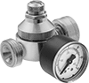 Pressure-Regulating Valves with Garden Hose Fittings for Water
