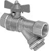 Threaded On/Off Valves with Easy-Access Strainer