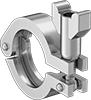 Clamps for High-Polish Metal Quick-Clamp Sanitary Tube Fittings