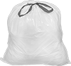 Garbage Bags with Drawstring