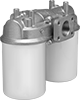 Dual Disposable-Canister Inline Hydraulic Fluid Filters