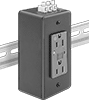 Surge-Suppressing DIN-Rail Mount Straight-Blade Receptacles