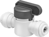 Plastic On/Off Valves with Push-to-Connect Fittings for Drinking Water