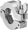 Clamps for Quick-Clamp High-Vacuum Fittings for Stainless Steel Tubing