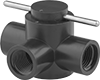 Easy-Clean Threaded Diverting Valves for Chemicals