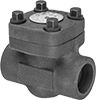 Socket-Connect Check Valves for Oil and Fuel