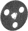 See-Through Arbor-Mount Sanding Discs for Stainless Steel and Hard Metals