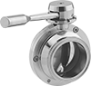 Flow-Adjustment Valves with Sanitary Quick-Clamp Fittings for Food and Beverage
