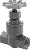 Plastic Threaded Flow-Adjustment Valves