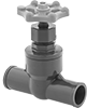 Plastic Socket-Connect Flow-Adjustment Valves
