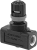 Easy-Set Threaded Plastic Precision Threaded Flow-Adjustment Valves