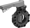 Plastic Flanged Flow-Adjustment Valves for Chemicals