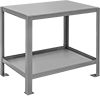 Steel Tables with Shelves