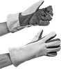 Leather Heat-Protection Gloves
