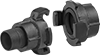 Large Twist-Claw Hose Couplings for Air and Water