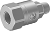 Continuous-Swivel Threaded Hose Fittings for Hydraulic Fluid