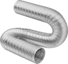 Bend-and-Stay Very Flexible Metal Duct Hose for Fumes