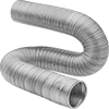 Bend-and-Stay Metal Duct Hose for Wood Chips and Plastic Pellets