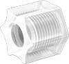 Nuts with Built-In Sleeve for Plastic Compression Tube Fittings for Water