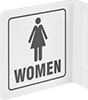 Flange-Mount Restroom Signs